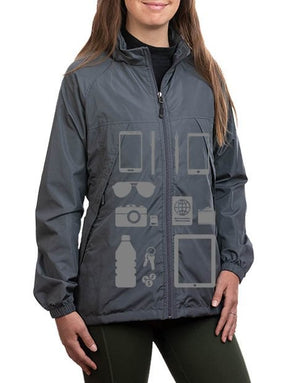 Scottevest Womens Pack Windbreaker Jackets for Women 19 Pockets Gray XLarge - NutritionalInstitute.com