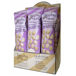 Trophy Farms Macadamias 2 oz 12 Packs 228342 2 PACK OC