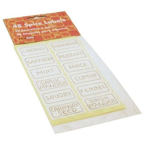 Accessories Self Adhesive Spice Label Set 48 Piece 2 PACK OC