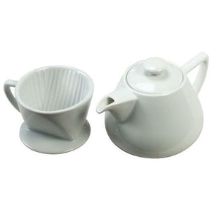 HIC White Porcelain Drip Coffee Maker with Pot 16 Ounce 2 PACK OC