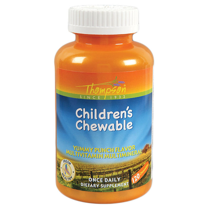 Thompson Punch Flavored Multi VitaminMineral Childs Chew 120 chewables 2 PACK 214488 OC