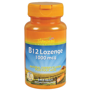 Thompson B12 Cherry Lozenge 30 lozenges 214514 2 PACK OC