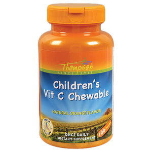 Thompson Orange Flavored Vitamin C Childs Chewables 100 chewables 2 PACK OC