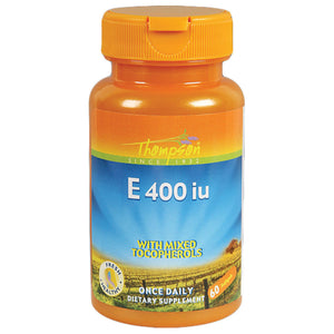 Thompson Vitamin E with Mixed Tocopherols 60 softgels 214542 2 PACK OC