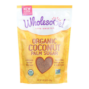 Wholesome Sweeteners Organic Conut Palm Sugar 16 oz.232717 2 PACK OC