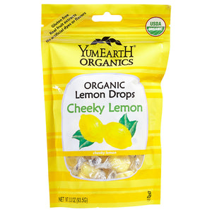 YumEarth Cheeky Lemon Organic Candy Drops 3.30 oz 220392 2 PACK OC