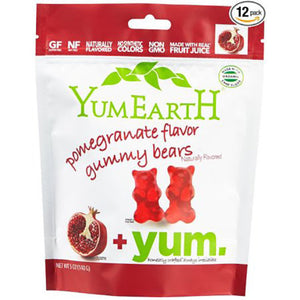 YumEarth Pomegranate Organic Gummy Bears 5 oz 229732 2 PACK OC