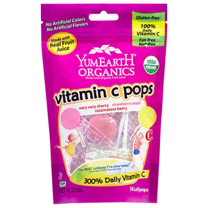 YumEarth Vitamin C Organic Lollipops 3 oz 221262 2 PACK OC