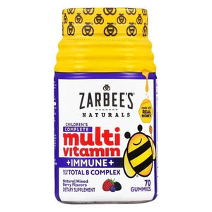 Zarbees Naturals Childs Multivit Immune Support 2+ years 70 Gumes 2 PACK OC