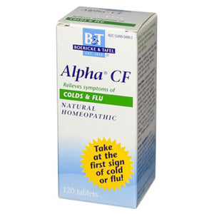 Boericke & Tafel Alpha CF, Colds & Flu, Bonus Pack 120 Tablets 208136 2 PACK OC