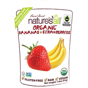 Nature's All Freeze Dry Banana/Strawberry 1.8 oz NAFBAST1.8 ASD ME
