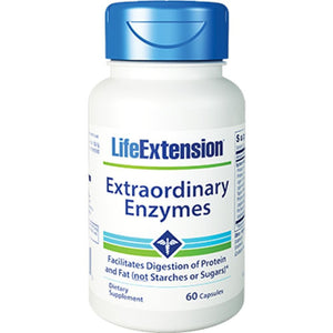 Life Extension Extraordinary Enzymes 60 caps 01706 - NutritionalInstitute.com