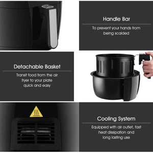 1400 W 7-in-1 Touch Screen Timer Electric Air Fryer EP23239 WC