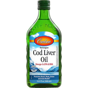 Carlson Labs Cod Liver Oil Regular Flavor Reduction Of Cholesterol Levels Increased Fertility 500 Ml - NutritionalInstitute.com