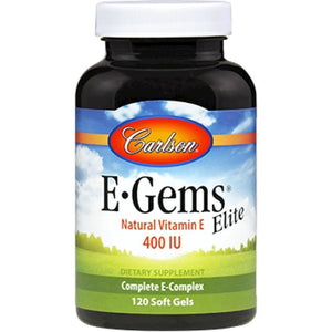 Carlson Labs E Gems Elite Promote Overall Health Of The Skin, Brain, And Heart 400 IU 120 Gels