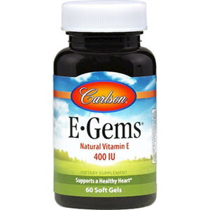 Carlson Labs Egems Age Related Diseases Antioxidant Skin Therapy 400 IU 60 Gels
