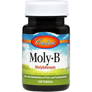 Carlson Labs MolyB Supports To Reduce Hair Loss 500 Mcg 100 Tablets