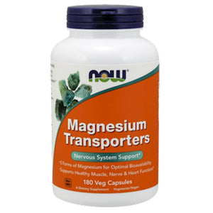 NOW Magnesium Transporters 180 vegcaps 1305 NS