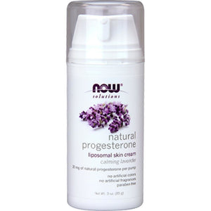 NOW Natural Progesterone Cream Lavender 3 oz 3346 NS