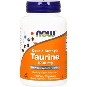 NOW Taurine 1000 mg 100 caps 142 ME