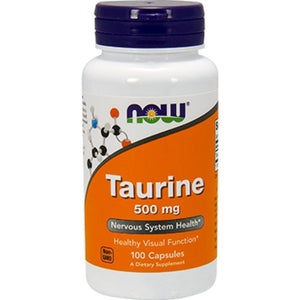 NOW Taurine 500 mg 100 caps 0140 ME