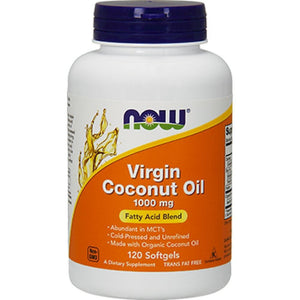 NOW Virgin Coconut Oil 1000 mg 120 softgels 1718 NS