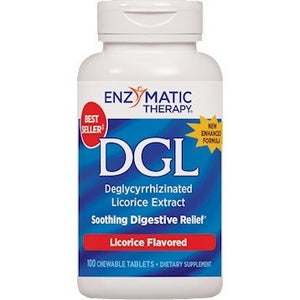 Enzymatic Therapy DGL Soothing Digestive Relief 100 Chewtabs Exp.5.21 IHI - NutritionalInstitute.com