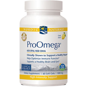 Nordic Naturals ProOmega Lemon Help Optimize Immune Function 60 gel - NutritionalInstitute.com