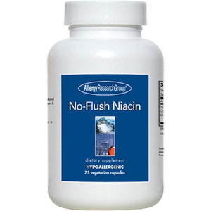 Allergy Research Group No Flush Niacin Supports Healthy Cardiovascular Function 430Mg 75 Veg Capsules