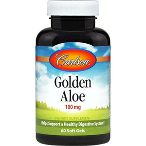 Carlson Labs Golden Aloe Helps Suppport a Healthy Digestive System 60 Softgel ME