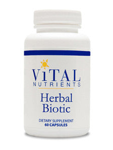 Vital Nutrients Herbal Biotic 60 caps CA ONLY VNHBCA
