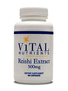 Vital Nutrients Reishi Mushroom 500 mg 60 caps CA ONLY VNRMCA