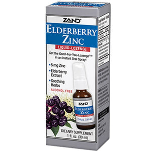 Zand Herbal Elderberry Zinc Liquid Lozenge 1 fl oz 85279