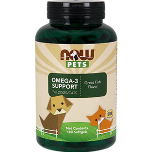 NOW Pets Omega 3 Cats & Dogs 180 softgels 4315 NS