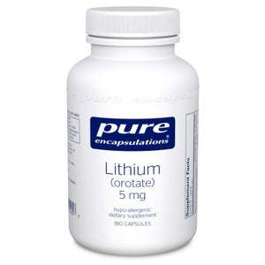 Pure Encapsulations Lithium orotate 5 mg 180 vcaps LI1 - NutritionalInstitute.com