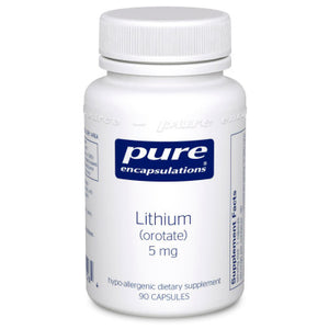 Pure Encapsulations Lithium orotate 5 mg 90 vcaps LI9 - NutritionalInstitute.com