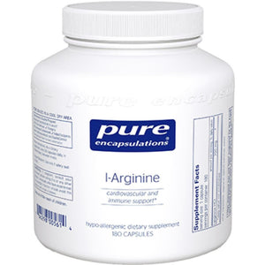 Pure Encapsulations L Arginine 700 mg 180 vcaps LAR1 ME