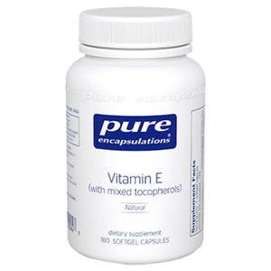 Pure Encapsulations Vitamin E Natural 400 IU 180 gels DE1 ME