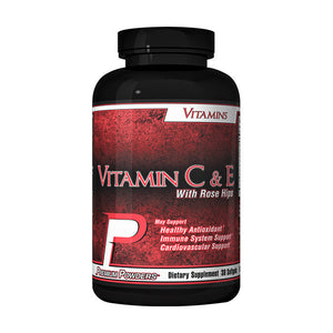 Premium Powders Vitamin C & E with Rose Hips 30 Softgels MLX