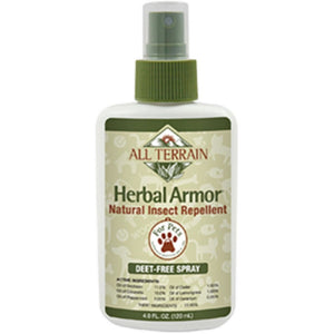 All Terrain Pet Herbal Armor Insect Repell Spray Help Itchy Dogs and Cats 4Ounce - NutritionalInstitute.com
