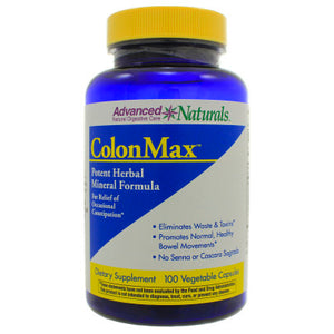 Advanced Naturals ColonMax For Support Of Occasional Constipation 100 Veg Capsules ASD ME