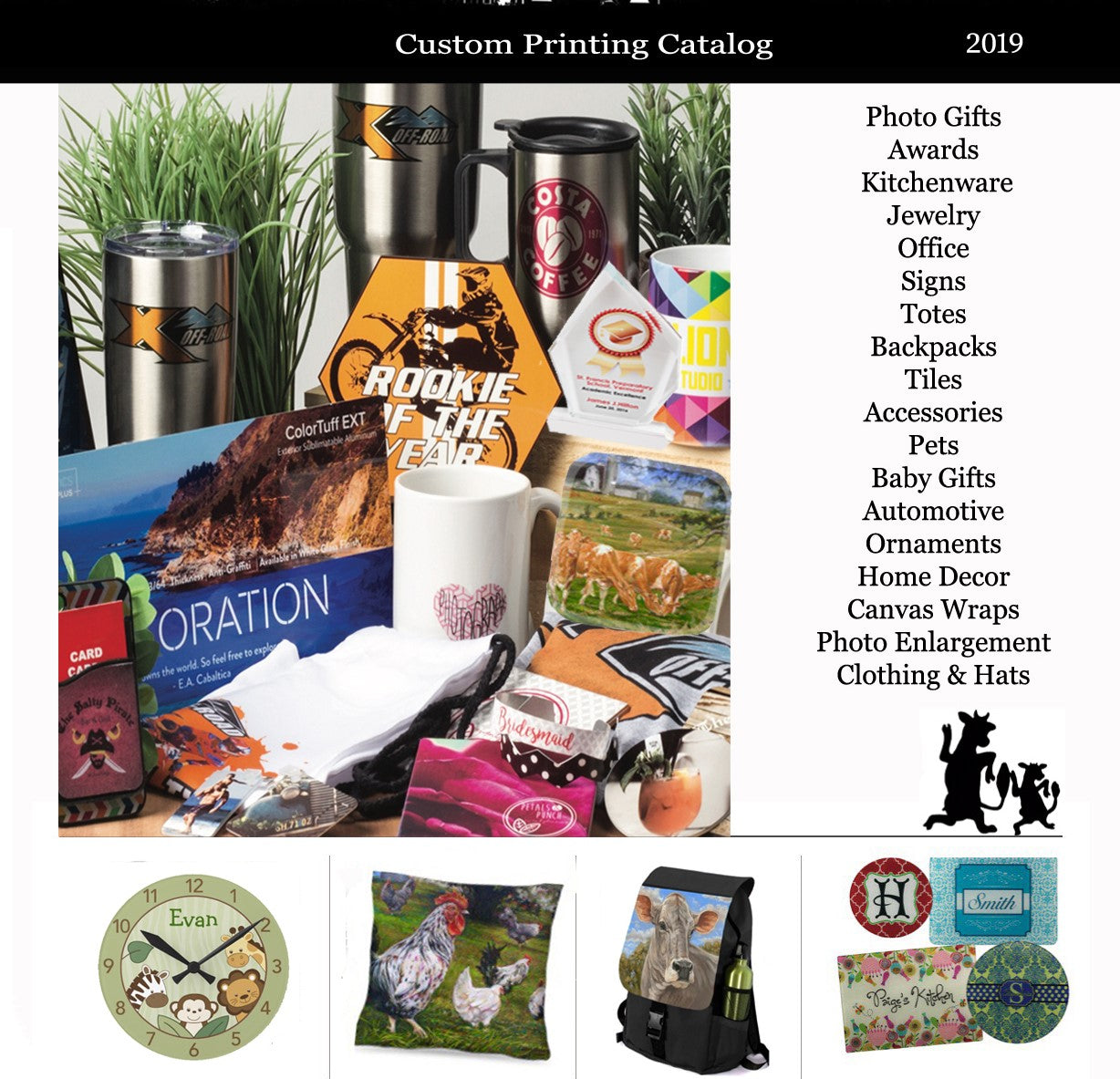 PERSONALIZED PRODUCTS CATALOG ~  pt. 1   (Click Center to Enlarge)