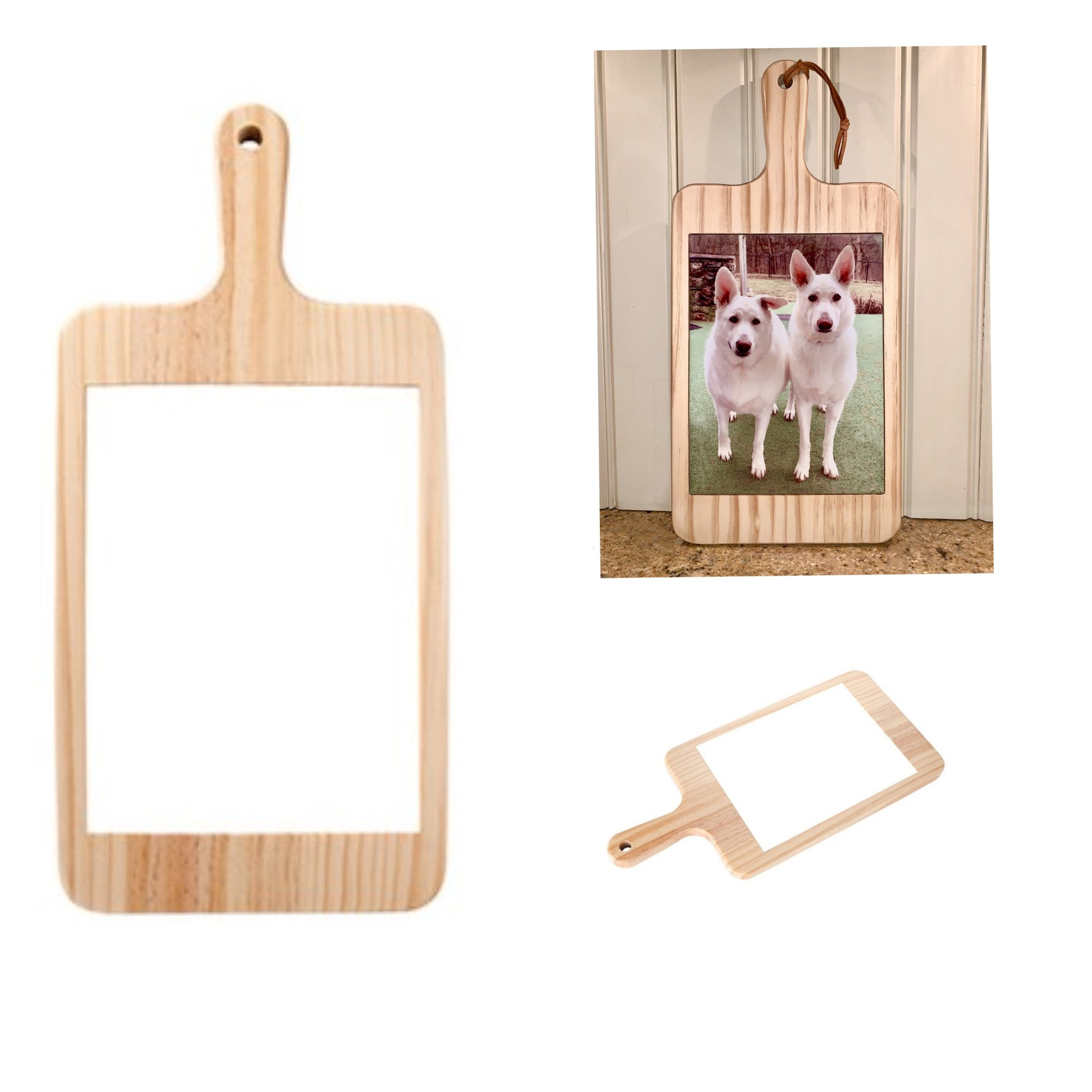 CUSTOMIZABLE WOOD CHEESE BOARD WITH CERAMIC TILE INSERT