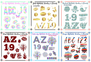 269 ALPHABET, NUMBERS & ELEMENTS (Group 1)