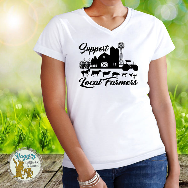 SUPPORT LOCAL FARMERS TEE SHIRT