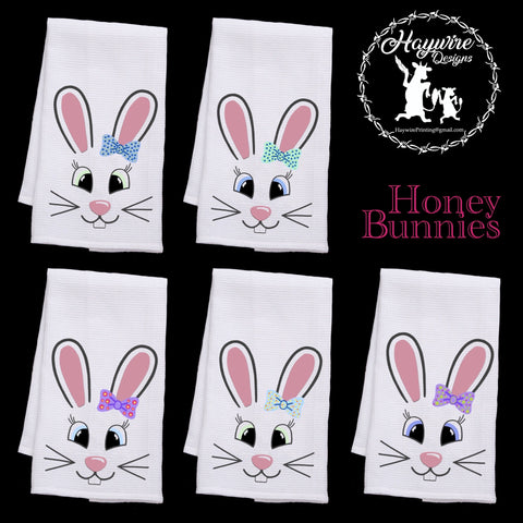 HUNNIE BUNNIES - 6 DIFFERENT STYLES