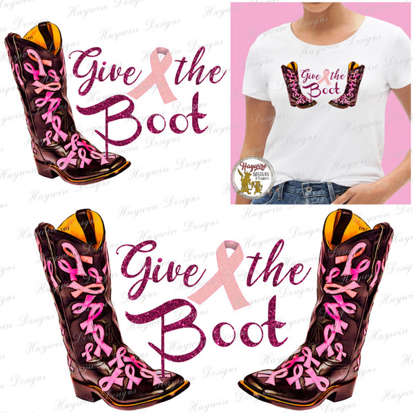GIVE CANCER THE BOOT - 4 Versions