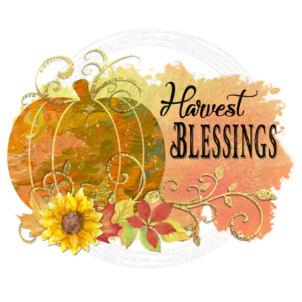 HARVEST BLESSINGS   (3 Versions  1. Harvest Blessings 2. Hello Fall 3. Blank)