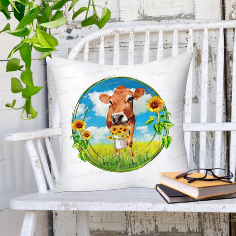 JERSEY SUNFLOWERS PILLOW