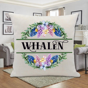 SPRING COLORS WREATH PILLOW